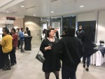 Reception after the public lecture.